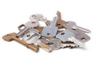 Haufen von Schlüsseln